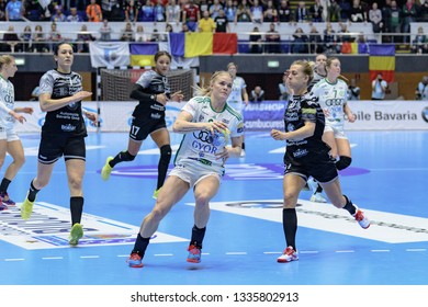 Bucuresti, Romania - February 23,2019: The handball player KRISTIANSEN Veronica during the game between CSM Bucuresti vs Györi Audi ETO KC  (25 - 27) for 2018/2019 Women's  EHF Champions League MR