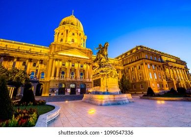 Buda Castle in Budapest at night, Hungary