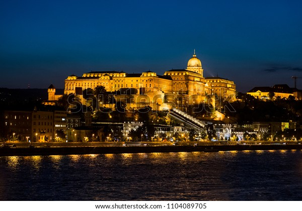 The Buda Castle or Royal Palace, at the city of Budapest in Hungary.