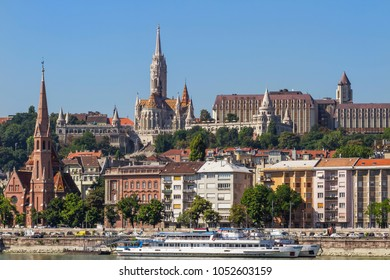 Buda Castle from the side of the river Danube
