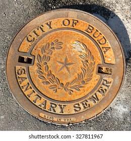 Buda Texas manhole cover