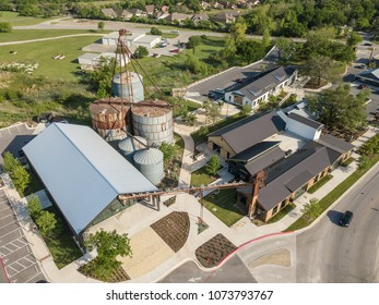 Buda, TX/USA - April 11 2018: Buda Mill & Grain