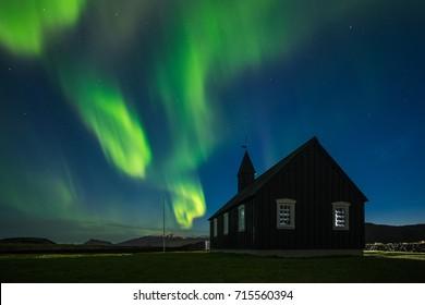 The Budakirkja in Budir, Iceland.