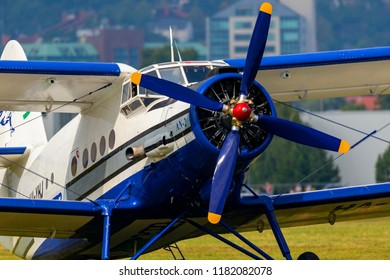 Budaors Hungary Sept 2 2018:  Antonov -2 aircraft  This aircraft is about 65 years old.