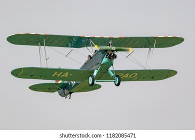 Budaors Hungary - Sept 2 2018: PO-2 veteran aircraft  This type of aircraft was build by the Soviets  since 1928