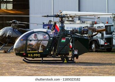Budaors Hungary - Sept 2 2018:  Various chopper performing at the Air Show.