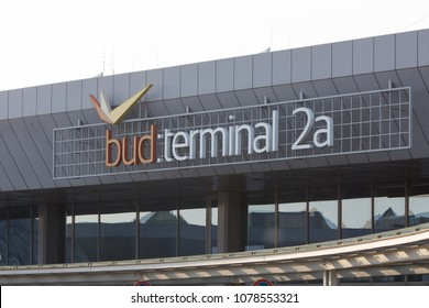 budapest, budapest/hungary - 24 04 18: budapest airport hungary terminal 2a