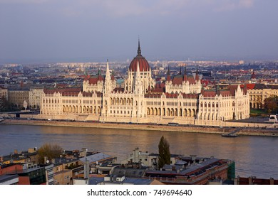 Budapest, the building of the Hungarian Parliament