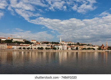 Budapest, capital city of Hungary, Buda side skyline from the Danube river