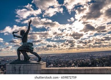 Budapest castle sculpture