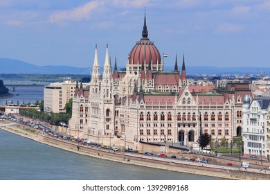 Budapest city, Hungary - cityscape with Danube river and Parliament building.