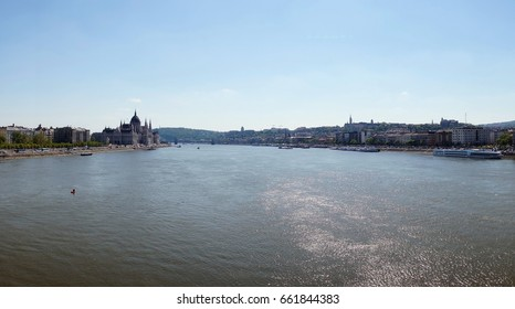 Budapest cityscape on the river