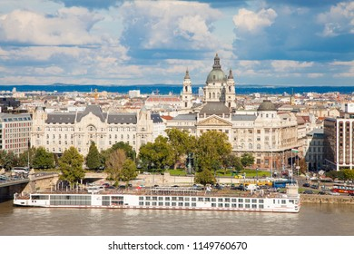 Budapest cityscape from river Danube