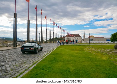 Budapest Classic Grand Prix or BPCGP near Royal Castle in Budapest, capital of Hungary June, 2018. Mercedes-Benz Magyarorszag
