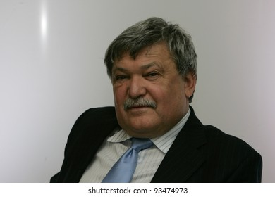BUDAPEST - FEB 11: Sandor Csanyi, the executive chairman of OTP Bank Nyrt, speaks at a press conference in Budapest, Hungary, on Monday, February 11, 2008.