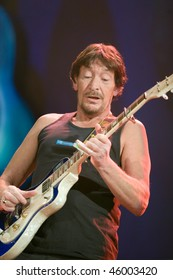 BUDAPEST - FEBRUARY 04: Chris Rea performs on stage at Sportarena on February 04, 2010 in Budapest, Hungary.