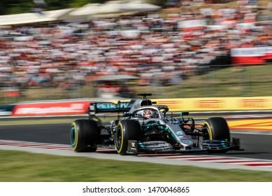 Budapest, Hungary. 01-04/08/2019. Grand Prix of Hungary. F1 World Championship 2019. Lewis Hamilton, Mercedes, wins the Grand Prix.