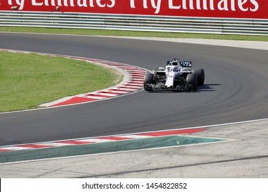 "Budapest ; Hungary ; 07/29/2018. Lance Stroll in Williams car. Race for the Formula 1 Grand Prix of Hungary on the ""Hungaroring"" race track"