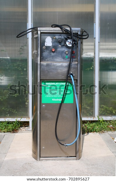 Budapest Hungary 08232017 Air Compressor Inflate Stock Photo Edit