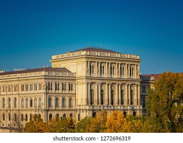 BUDAPEST, HUNGARY - 13 OCTOBER, 2018: Building of Academy of Science (MTA), Budapest, Hungary on 13 October, 2018.