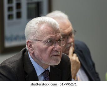 BUDAPEST, HUNGARY - 14 NOV, 2016: Jozsef Palinkas, leader of National Research, Development and innovation Office on a press conference in Budapest.