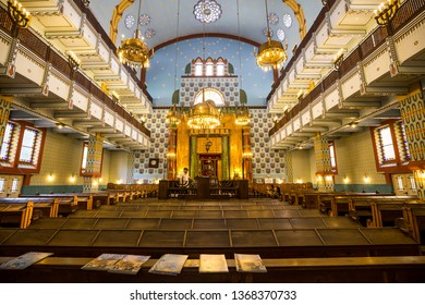 Budapest, Hungary - 19, July 2017 - Synagogue in Budapest