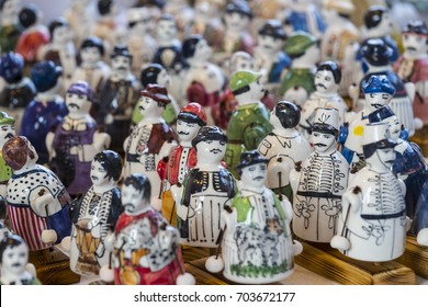 BUDAPEST, HUNGARY - 20 AUGUST 2017: Traditional folk fair in honor of St. Istvan and the first hlet in Hungary with folk craftsmen.Budapest. Hungary
