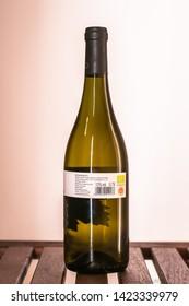 Budapest / Hungary 2018.01.21 Wine collections: Olaszrizling, Hordós BIO, 2015, DOBOSI