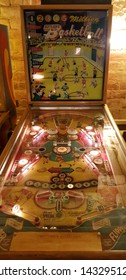 Budapest, Hungary - 2019.0619.: Old retro flipper arcade game machines, Gottlieb's million basketball