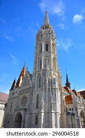 BUDAPEST, HUNGARY - 27 May 2015 : The Matthias Church, one of the famous attractions in Hungary. It is located in the area of Hungary Castle which also near Fisherman's Bastion.