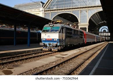 BUDAPEST, HUNGARY - APRIL 23, 2012: Passenger train at Budapest Keleti (east) station, Hungary