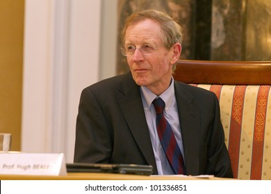 BUDAPEST, HUNGARY - APRIL 27:Prof. Hugh Beale, University of Warwick on Conference on the Common European Sales Law org by ELTE Univ. on April 27, 2012..Budapest