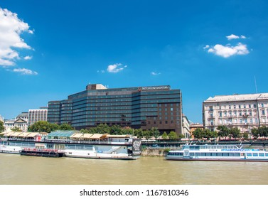 BUDAPEST, HUNGARY - AUGUST, 01, 2017: Hotel intercontinental in Budapest, Hungary at summer
