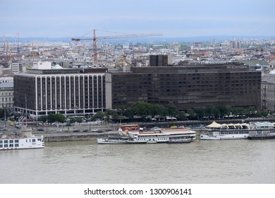 Budapest, Hungary - AUGUST 13, 2017: City panorama - Hotel Intercontinental