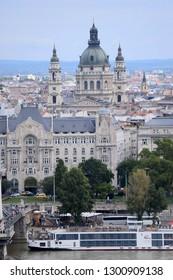 Budapest, Hungary - AUGUST 13, 2017: City panorama - St. Stephen's Basilica