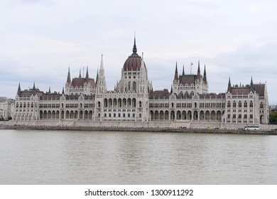 Budapest, Hungary - AUGUST 13, 2017: City panorama - Parliament