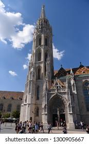 Budapest, Hungary - AUGUST 14, 2017: City panorama - Matthias Church
