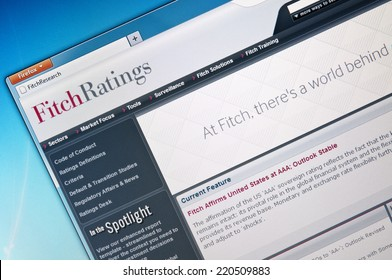 "Budapest, Hungary - August 18, 2011. Close-up image of Fitch Ratings website. Fitch Ratings is one of the ""Big Three credit rating agencies""."