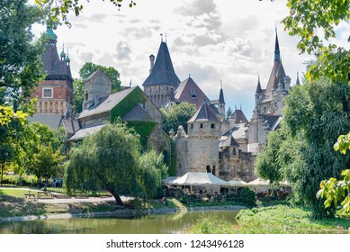 Budapest, Hungary - August 18 2018: castle in the city park of Budapest in Hungary