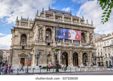 BUDAPEST, HUNGARY - AUGUST 21, 2015: The Hungarian State Opera House (Magyar �llami Operaház). This masterpieces is a neo-Renaissance opera house located in central Budapest, on Andrássy út.