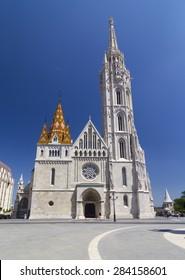 BUDAPEST, HUNGARY - CIRCA MAY 2015 :The Mathias Church in Buda Castle, Budapest, Hungary