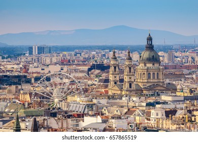 Budapest Hungary, city skyline at St. Stephen's Basilica