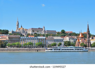Budapest, Hungary. The Danube river embankment in the district of  Buda