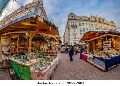 Vorosmarty Square Budapest Christmas Market.Vorosmarty Square Images Stock Photos Vectors Shutterstock