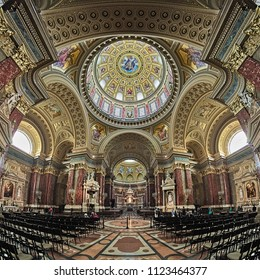 BUDAPEST, HUNGARY - DECEMBER 5, 2016: Interior of St. Stephen's Basilica. It is named in honour of Stephen, the first King of Hungary (c 975-1038), whose supposed right hand is housed in the reliquary