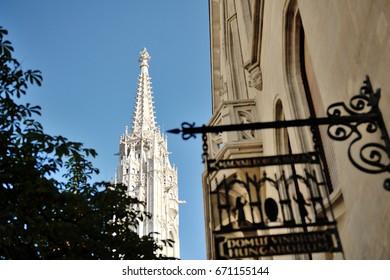 Budapest, Hungary, Europe - St.Matthias church white tower bell