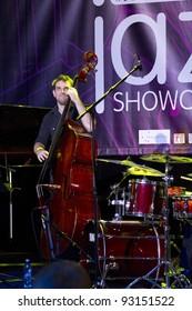 BUDAPEST, HUNGARY - JANUARY 13: Nikola Kolodziejczyk Trio plays at Jazzshowcase 2012 Performance on January 13, 2012 in Budapest, Hungary.