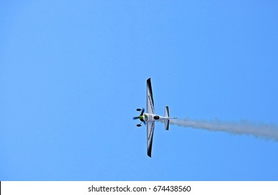 BUDAPEST, HUNGARY - JUL 01, 2017: The qualifying session of the Red Bull Air Race World Championship 2017