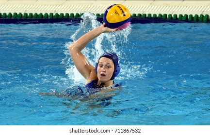 Budapest, Hungary - Jul 16, 2017. CZIGANY Dora (HUN) in the preliminary round. FINA Waterpolo World Championship was held in Alfred Hajos Swimming Centre in 2017.