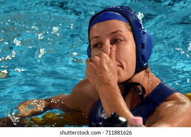 Budapest, Hungary - Jul 16, 2017.  SZUCS Gabriella (HUN) in the preliminary round. FINA Waterpolo World Championship was held in Alfred Hajos Swimming Centre in 2017.
